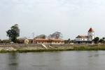 village along the banks