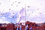 flying above Casa Rosada