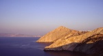 late afternoon light setting on Folegandros