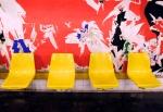 4 yellow seats